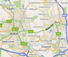 bolton and bury map