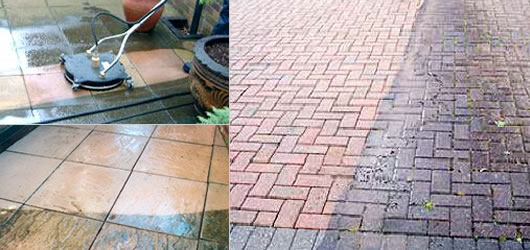pressure washing patio driveway block paving
